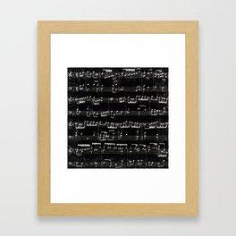 Nota Bene (black) Framed Art Print