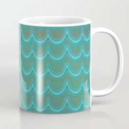 Mermaid Scales Blue Green Wave Coffee Mug