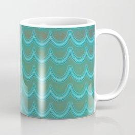 Mermaid Scales Blue Green Wave Coffee Mug