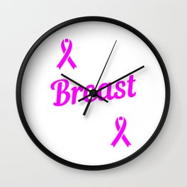 Tackle Breast Cancer Football Breast Cancer Awareness Month T-shirt Design Pink Ribbon Sports Wall Clock