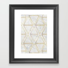 gOld rhombus Framed Art Print