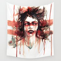 vampire Wall Tapestries featuring VAMPIRE by AkiMao