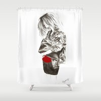 military Shower Curtains featuring Military Jacket by MASALEVICH