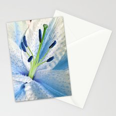 Blue Lily Macro Stationery Cards