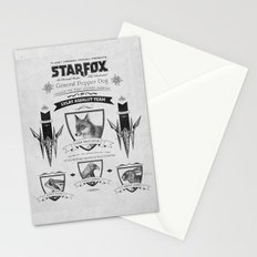 Star Fox Vintage Poster Geek Line Artly Stationery Cards