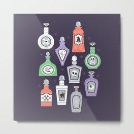 Potion Bottles Metal Print