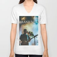 brand new V-neck T-shirts featuring Brand New by ICANWASHAWAY