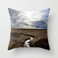 iceland Throw Pillows featuring iceland by katie moon