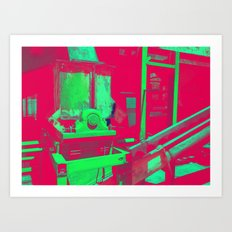 Factory Red Art Print