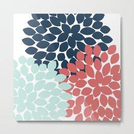 Dahlia Pillow Metal Print