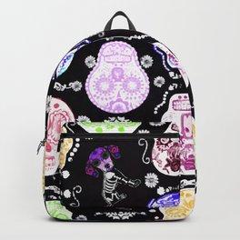 WEIMARANER AND SKULLS 2 Backpack