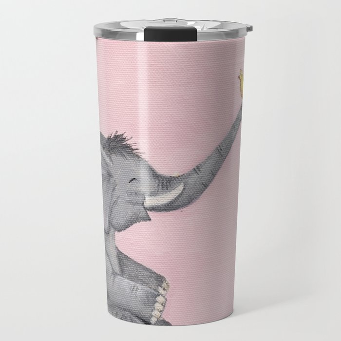 A Little Birdie Told Me - Elephant and Bird Travel Mug