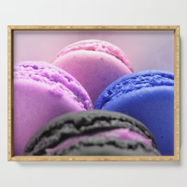 macaroons Pink Lavender Blue Serving Tray