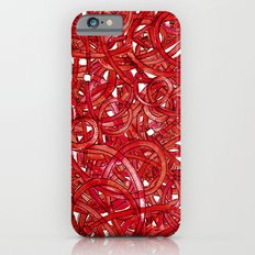POP ART- RED CABLE iPhone 6s Slim Case