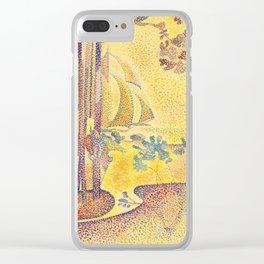 """Henri-Edmond Cross """"Bord de mer et voiliers au loin, Etude pour L'air du soir"""" Clear iPhone Case"""