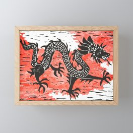 Dancing Chinese dragon Framed Mini Art Print