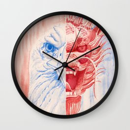 Chinese American Wall Clock