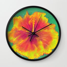 Hibiscus Wall Clock