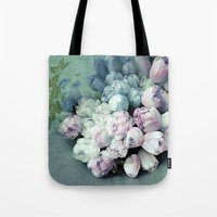 antique Tote Bags featuring Tulips Antique by Joke Vermeer