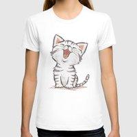 cat coquillette T-shirts featuring Cat by Toru Sanogawa