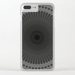 Modern Black and white Mandala Clear iPhone Case
