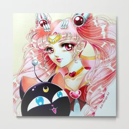 Sailor Chibi Moon, by Suki Manga Art Metal Print