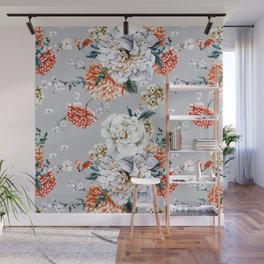Blooming Flowers I Wall Mural