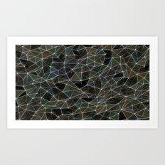 Abstract Digital Waves Art Print