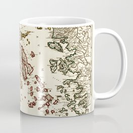1752 Map of Greece Coffee Mug