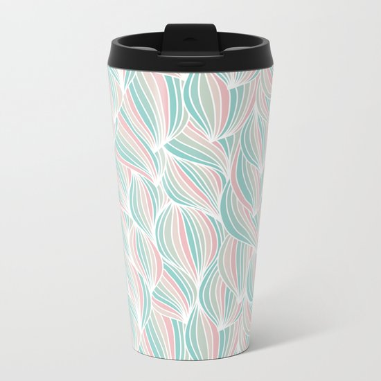 Cool Colorful Ocean Waves Metal Travel Mug