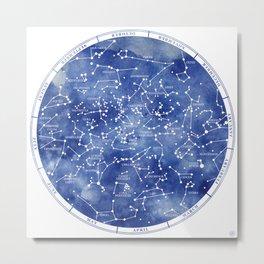 Star Map II Metal Print