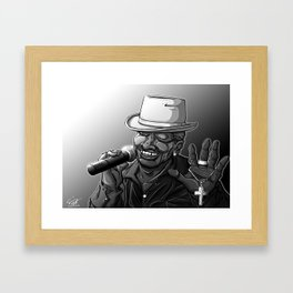Old School Brother Framed Art Print