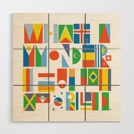 What A Wonderful World II Wood Wall Art