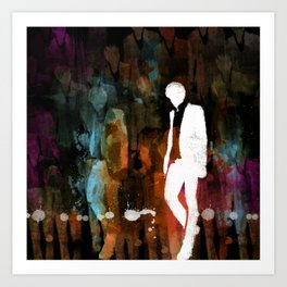 The invisible man... Art Print