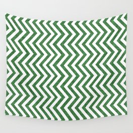 Canadian Wildlife Chevron Emerald Wall Tapestry