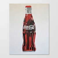 coca cola Canvas Prints featuring Coca-Cola by Marta Barguno Krieg