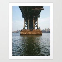 America's Cathedrals - Manhattan Bridge Art Print