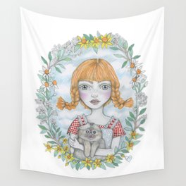 pippi long stocking Wall Tapestry