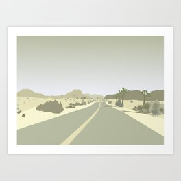 Joshua Tree Park - On the road Art Print