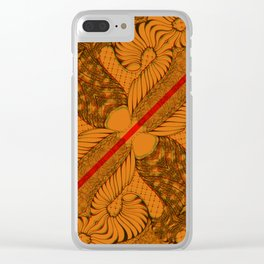 Diagonal Abstract Psychedelic Doodle 9 Clear iPhone Case