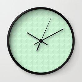 Mint, light green. Wall Clock