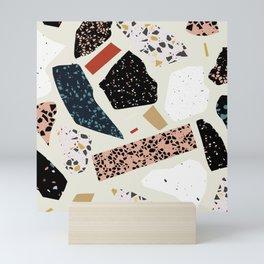 Modern Terrazzo Collage 01 Mini Art Print