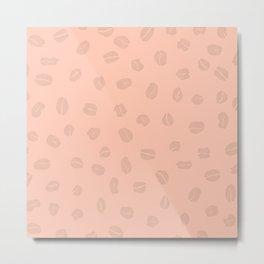 Pale Coffee Background Metal Print