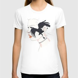 naked_black bird T-shirt