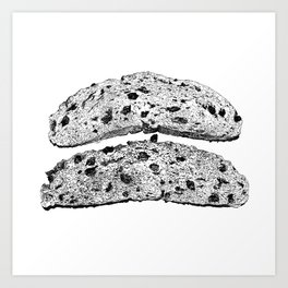 2 pieces of toast Art Print