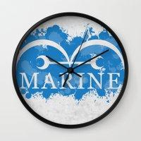 marine Wall Clocks featuring Marine by rKrovs