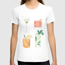 Colorful cocktails T-shirt