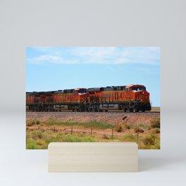 Orange BNSF Engines Mini Art Print