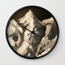 Silver Mountains Wall Clock