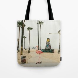 Venice Beach Flamingo Tote Bag
